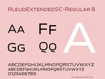 RleudExtendedSC-Regular