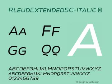 RleudExtendedSC-Italic