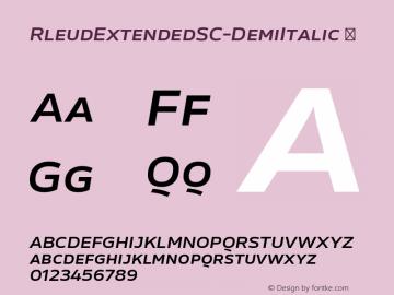 RleudExtendedSC-DemiItalic