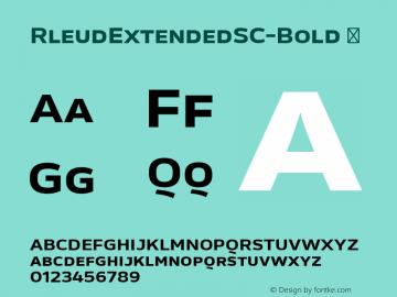 RleudExtendedSC-Bold