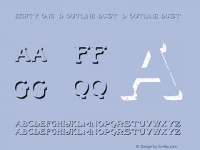 Eighty One 3D Outline Dust