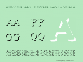 Eighty One Clean 3D Outline