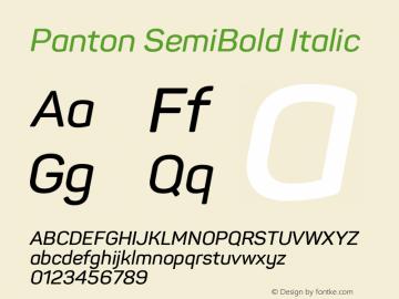 Panton SemiBold