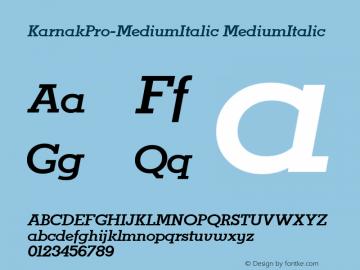 KarnakPro-MediumItalic