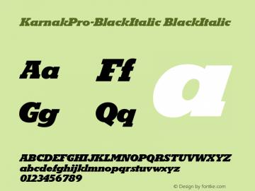 KarnakPro-BlackItalic