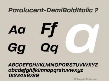 Paralucent-DemiBoldItalic