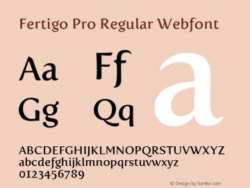 Fertigo Pro Regular Webfont