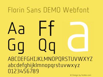 Florin Sans Webfont
