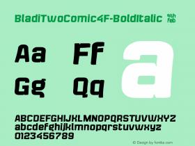 BladiTwoComic4F-BoldItalic