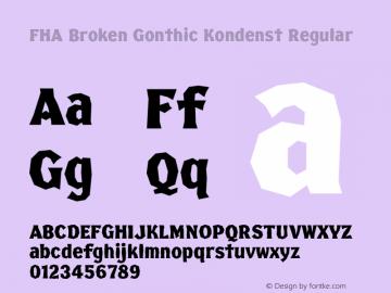FHA Broken Gonthic Kondenst