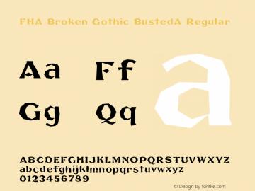 FHA Broken Gothic BustedA