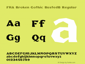 FHA Broken Gothic BustedB