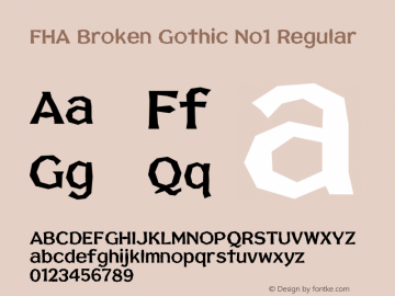 FHA Broken Gothic No1