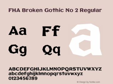 FHA Broken Gothic No 2