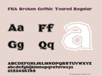 FHA Broken Gothic Toured