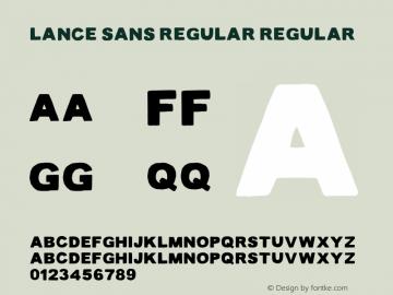 Lance Sans Regular