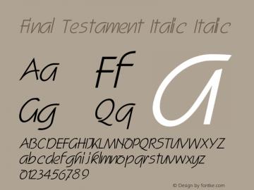 Final Testament Italic