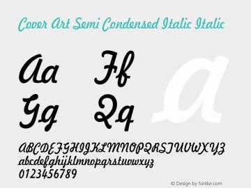 Cover Art Semi Condensed Italic