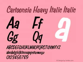 Cartoonsie Heavy Italic