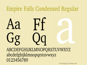 Empire Falls Condensed