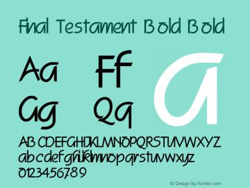 Final Testament Bold