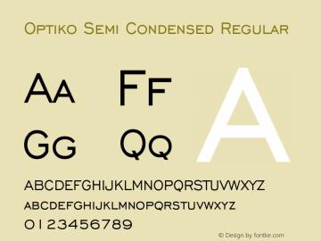 Optiko Semi Condensed