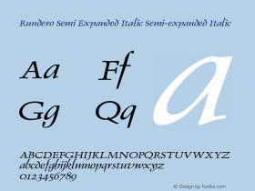 Rundero Semi Expanded Italic