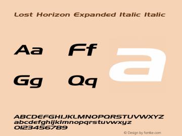 Lost Horizon Expanded Italic