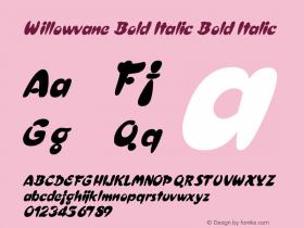 Willowvane Bold Italic