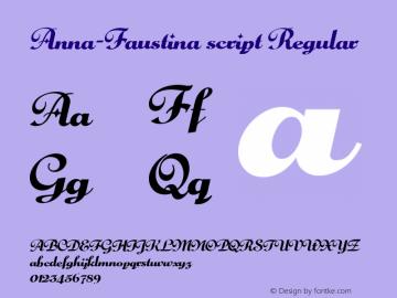 Anna-Faustina script