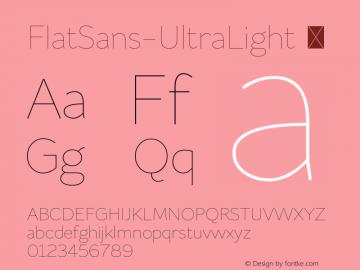 FlatSans-UltraLight