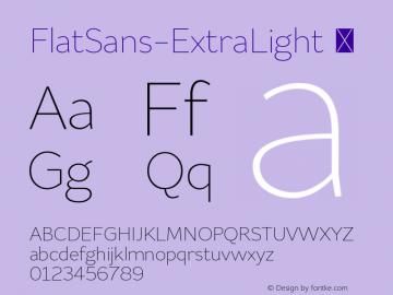 FlatSans-ExtraLight