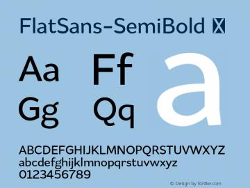 FlatSans-SemiBold