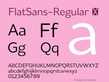 FlatSans-Regular
