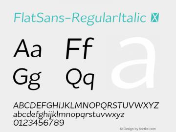 FlatSans-RegularItalic