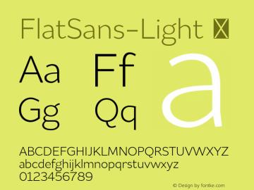 FlatSans-Light