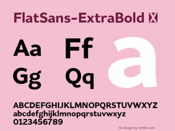 FlatSans-ExtraBold