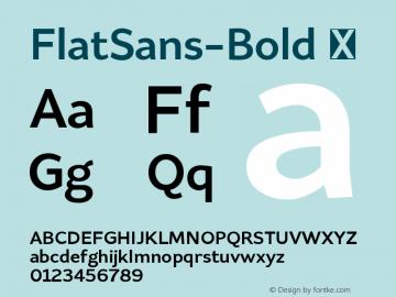 FlatSans-Bold