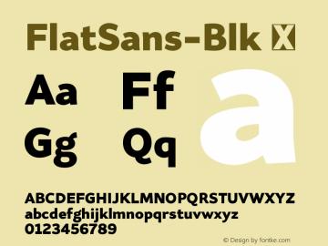 FlatSans-Blk