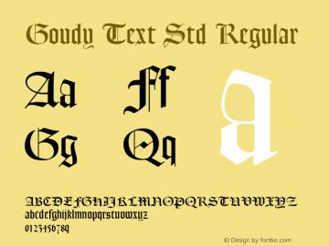 Goudy Text Std