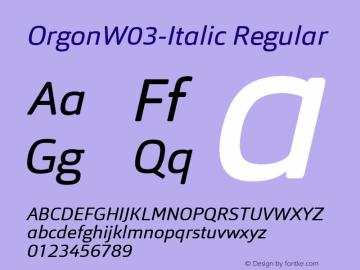 Orgon-Italic