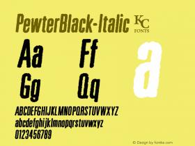 PewterBlack-Italic