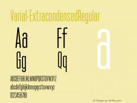 Varial-ExtracondensedRegular