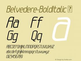 Belvedere-BoldItalic