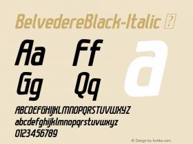 BelvedereBlack-Italic