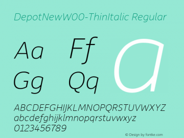 DepotNew-ThinItalic