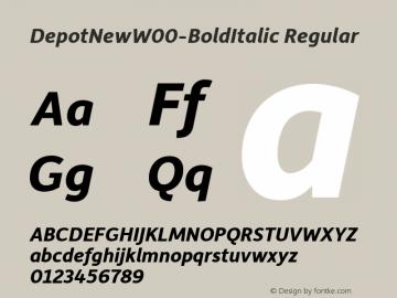 DepotNew-BoldItalic