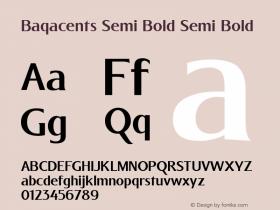 Baqacents Semi Bold