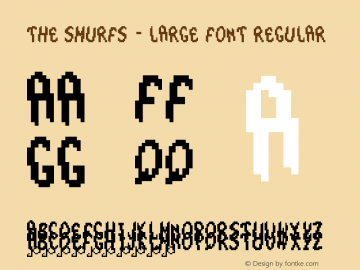 The Smurfs - Large Font