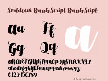 Sortdecai Brush Script